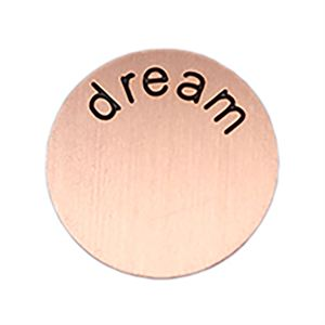 Picture of 'Dream' Medium Rose Gold Coin