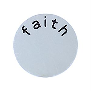 Picture of 'Faith' Medium Silver Coin