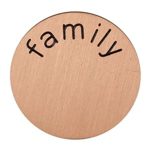 Picture of 'Family' Mini Rose Gold Coin
